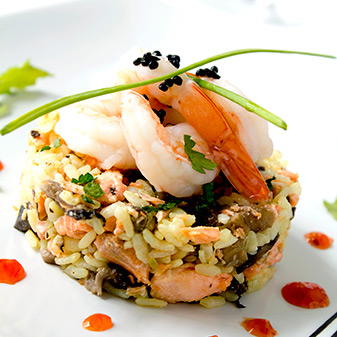 Seafood rice dishes