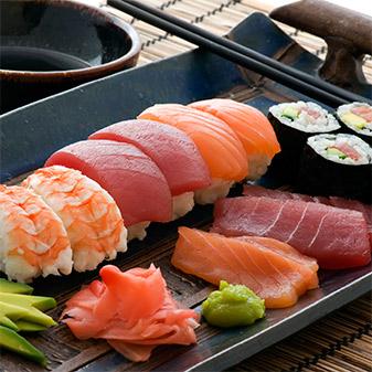 Sushi, Sashimi and niguiri