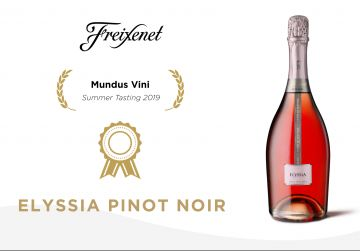 Elyssia Pinot Noir is awarded the Gold Medal at Mundus Vini
